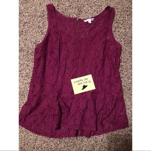Cabi lace tank top